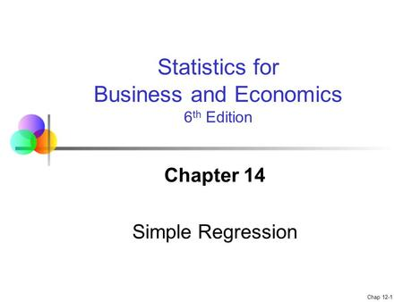 Chapter 14 Simple Regression