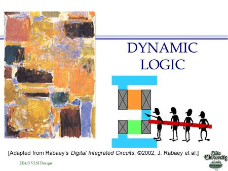 EE415 VLSI Design DYNAMIC LOGIC [Adapted from Rabaey's Digital Integrated Circuits, ©2002, J. Rabaey et al.]