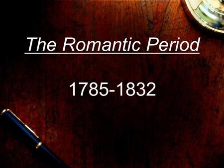 the english romantic period essay The romantic period began in europe at the end of the 18th century and lasted   kenneth mcneil, english professor at eastern connecticut state university.