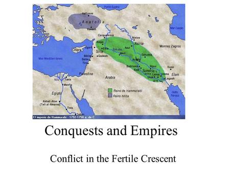Conquests and Empires Conflict in the Fertile Crescent.