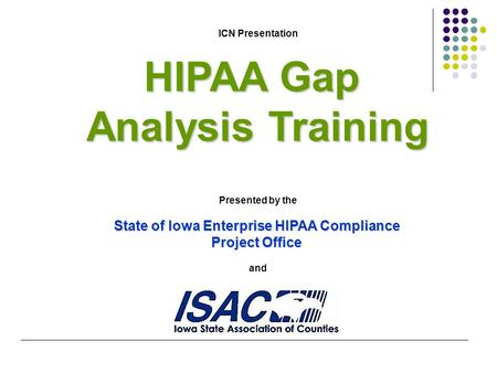 State of Iowa Enterprise HIPAA Compliance