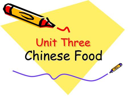 Unit Three Chinese Food. Teaching Objectives Pre-reading Questions Global Reading Detailed Reading Extended knowledge.