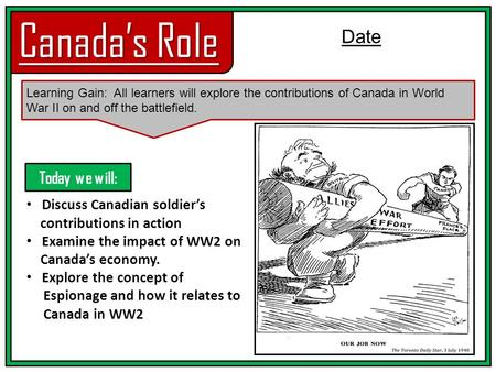 world war i canadas role essay