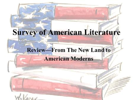 survey of american literature i Find out more about the university of wisconsin survey of spanish american literature course.