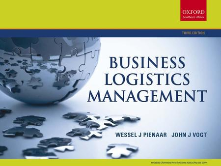 Chapter 11: Strategic Leadership Chapter 20 Controlling logistics performance.