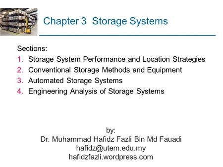 Chapter 3 Storage Systems