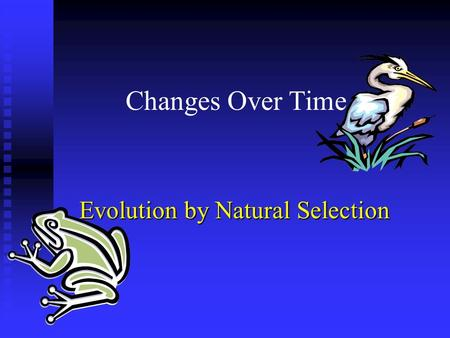 Changes Over Time Evolution by Natural Selection.