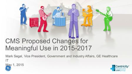 CMS Proposed Changes for Meaningful Use in 2015-2017 Mark Segal, Vice President, Government and Industry Affairs, GE Healthcare IT May 1, 2015.