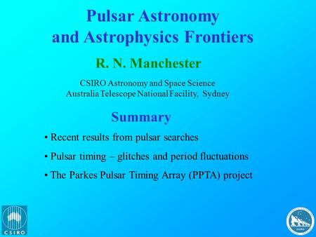 and Astrophysics Frontiers
