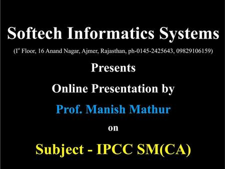 Softech Informatic Systems. Strategic Management.
