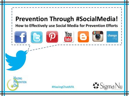 Prevention Through #SocialMedia! How to Effectively use Social Media for Prevention Efforts.