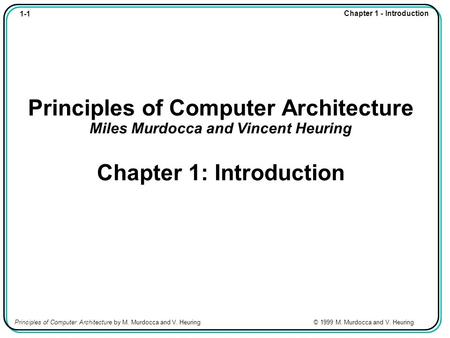 Chapter Contents 1.1 Overview 1.2 A Brief History