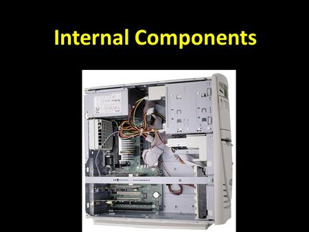 Internal Components. Binary system The binary system is the language that the computer uses to process information. The binary system has only two numbers.