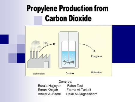 Propylene Production from
