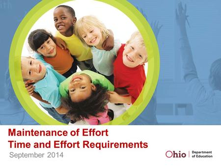 Maintenance of Effort Time and Effort Requirements September 2014.