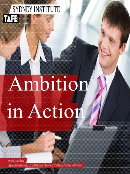 Ambition in Action. Ambition in Action www.sit.nsw.e du.au HEAD TEACHER DEVELOPMENT PROGRAM – FINANCE MANAGEMENT ACTIVITY WORKBOOK.