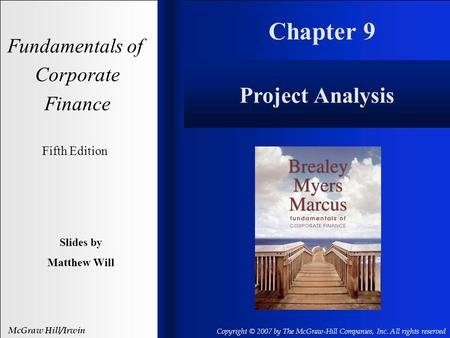 Chapter 9 Project Analysis Fundamentals of Corporate Finance