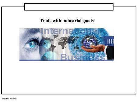 Trade with industrial goods McGraw-Hill/Irwin. Introduction 1.Industrial products sold in business-to-business markets also constitute (представляет)