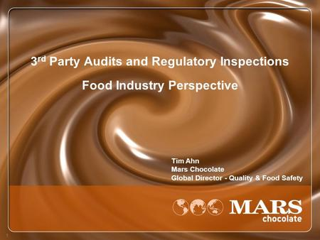 3rd Party Audits and Regulatory Inspections Food Industry Perspective