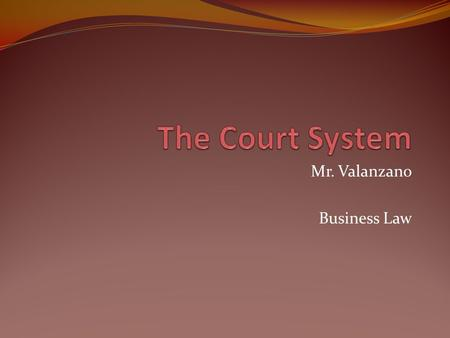 Mr. Valanzano Business Law. Dispute Resolution Litigate – ________________________________________________ In some cases, people decided too quickly to.