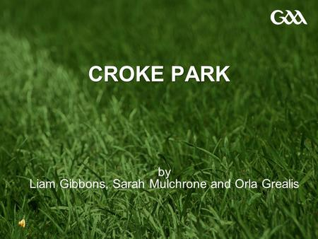 CROKE PARK by Liam Gibbons, Sarah Mulchrone and Orla Grealis.