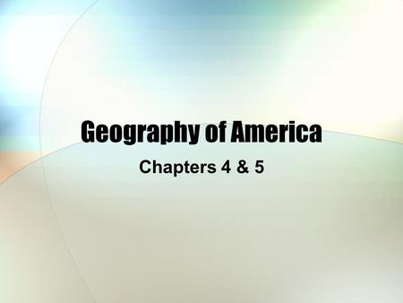 "Geography of America Chapters 4 & 5. The Melting Pot The ""Melting Pot"" is a metaphor to describe the assimilation of immigrants to the USA. Approximately."