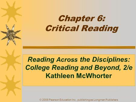 study and critical thinking skills in college mcwhorter