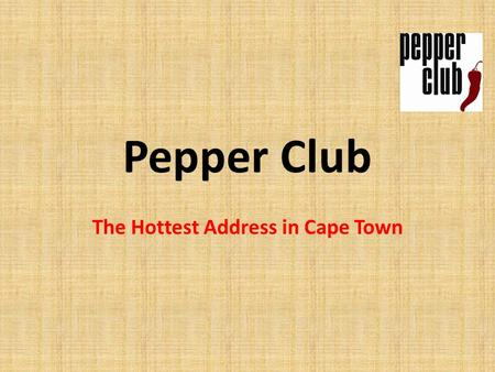 Pepper Club The Hottest Address in Cape Town. The Investment Consists of: An apartment (Sectional Title Ownership) A furniture pack by a leading hotel.
