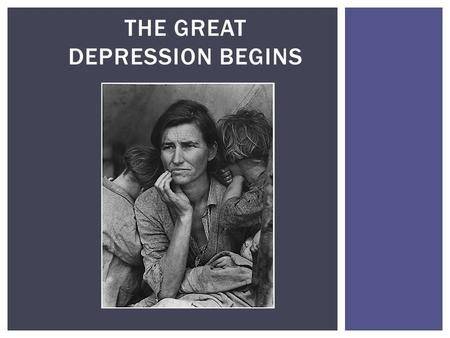 THE GREAT DEPRESSION BEGINS.  S tock Market  O verproduction  B ank Failures CAUSES OF THE CRASH.