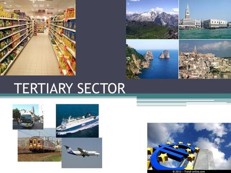 "tertiary sector is so important in To the fact that even the terms ""service"" and ""service sector"" have not yet been   in the relative importance of the industrial sector and the continuous growth of."