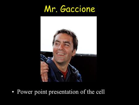 Mr. Gaccione Power point presentation of the cell.