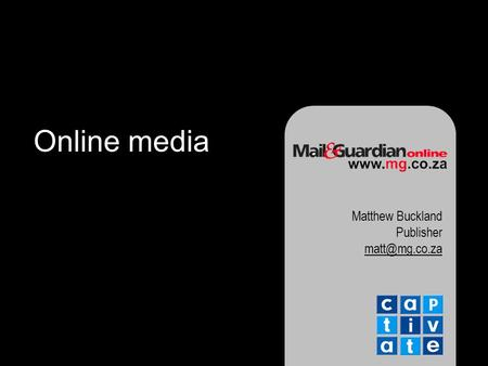 Online media Matthew Buckland Publisher
