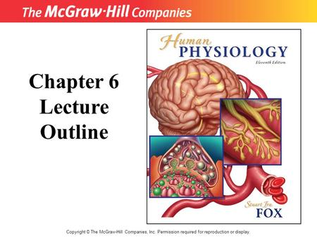 Copyright © The McGraw-Hill Companies, Inc. Permission required for reproduction or display. Chapter 6 Lecture Outline.