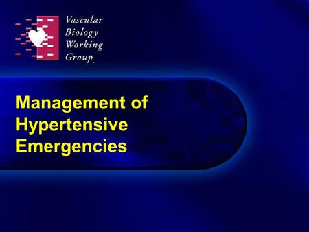 Management of Hypertensive Emergencies. New paradigm in treatment of acute hypertension Acute vascular injury has chronic sequelae Prevention of exaggerated.