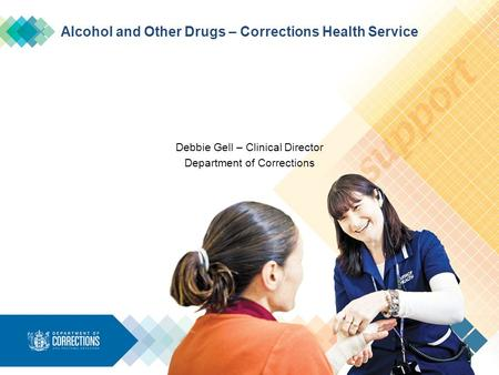Alcohol and Other Drugs – Corrections Health Service Debbie Gell – Clinical Director Department of Corrections.