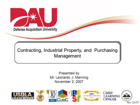 Contracting, Industrial Property, and Purchasing