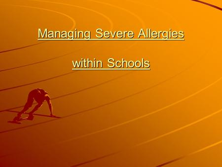 Managing Severe Allergies within Schools. What is Anaphylaxis? Anaphylaxis is a severe systemic allergic reaction. At the extreme end of the allergic.