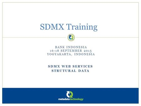 Sdmx web services Strutural data