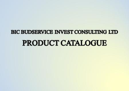 Our company BIC Budservice Invest Consulting Ltd was established to unite different companies and to achieve high purposes. The place of incorporation.