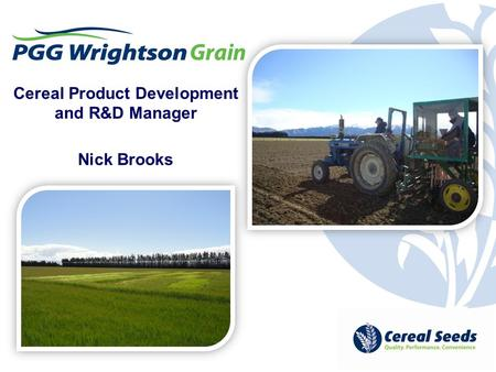 Cereal Product Development and R&D Manager Nick Brooks.