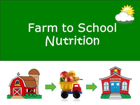 Farm to School Nutrition. Plants need air, sun and water to grow. What do YOU need to grow?