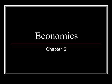 Economics Chapter 5. Section 1 Objectives: 1. What is the role of the price system? 2. What are the benefits of the price system? 3. What are the limitations.