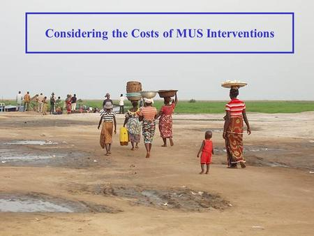 Considering the Costs of MUS Interventions. Direct Costs v. Opportunity Costs Direct Costs Expenditures and investments to achieve a particular outcome.