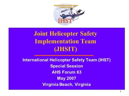 Joint Helicopter Safety Implementation Team (JHSIT)