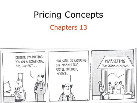 Pricing Concepts Chapters 13.