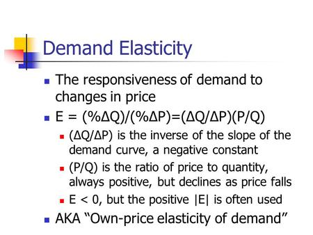 practical application of price elasticity and income elasticity of demand essay Micro chapter 6 study play  practical applications of price elasticity of supply explaining price volatility the concept is relevant to the pricing of antiques and gold, for which the.