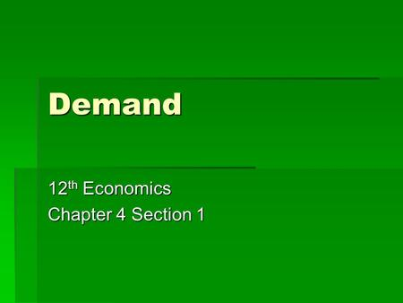 12th Economics Chapter 4 Section 1