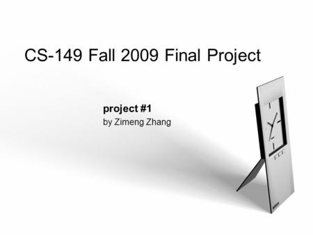 LOGO CS-149 Fall 2009 Final Project project #1 by Zimeng Zhang.