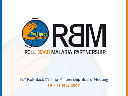 RBM Procurement and Supply chain Management WG Review.