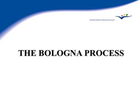Adjusting to the Bologna Process